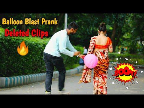 🎈Balloon Blast Prank Deleted Clips Or Unseen Parts😲😲 PrankBuzz