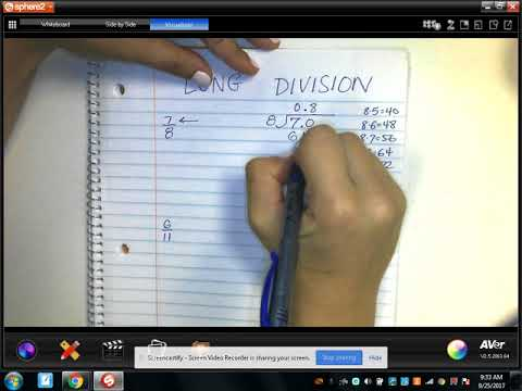 Rational Numbers: LONG DIVISION - Converting Fractions to Decimals