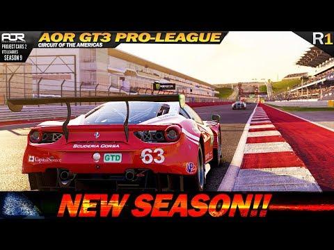 Project Cars 2: Season 9 Premier in AOR GT3 PRO League! (R.1 @ COTA)