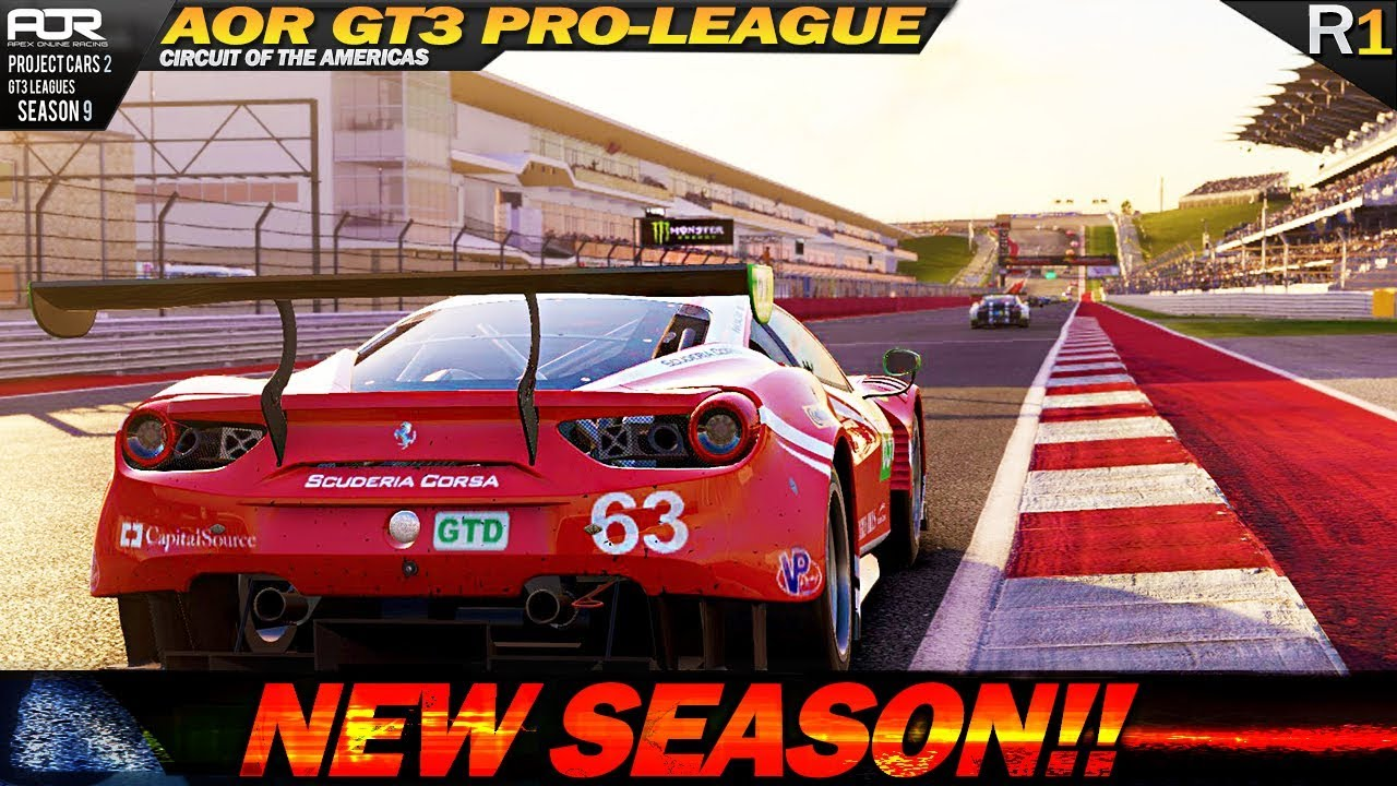 Project Cars 2: Season 9 Premier in AOR GT3 PRO League! (R.1 @ COTA ...