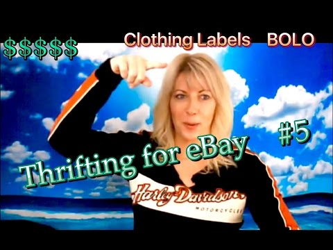 Thrifting for eBay  #5 : Clothing Labels to Buy & Sell