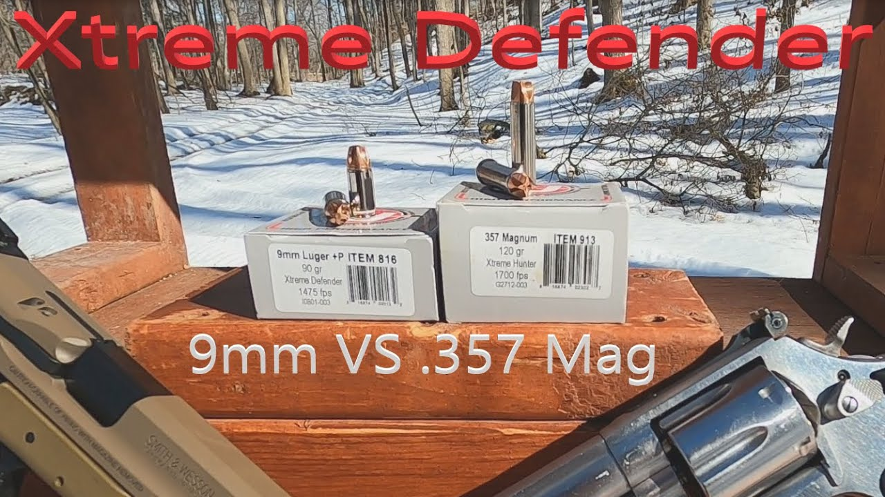 Can a Full Size 9mm Pistol RIVAL .357 Magnum? Underwood Xtreme Defender