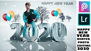 PicsArt Happy New Year 2020 Photo Editing Tutorial In PicsArt Step By Step In Hindi Winter Editing