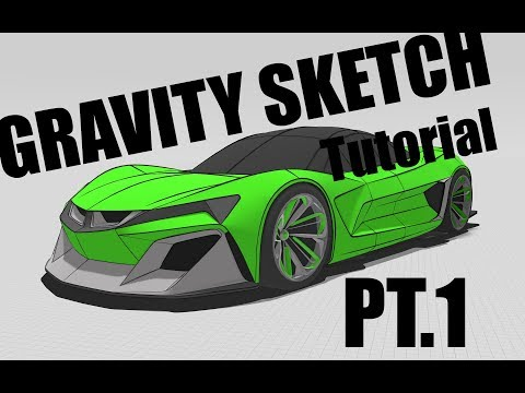 Gravity Sketch VR, Super Car Demo, Part 1