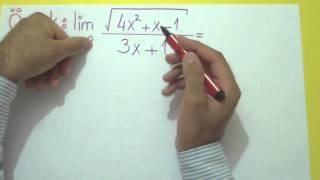 Limit 5 (∞/∞ Belirsizliği) Şenol Hoca Matematik