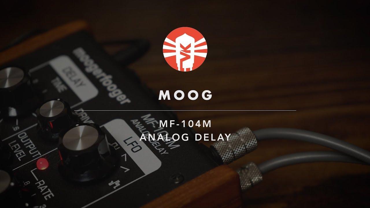 moog music 104m analog delay guitar pedal vintage king youtube. Black Bedroom Furniture Sets. Home Design Ideas