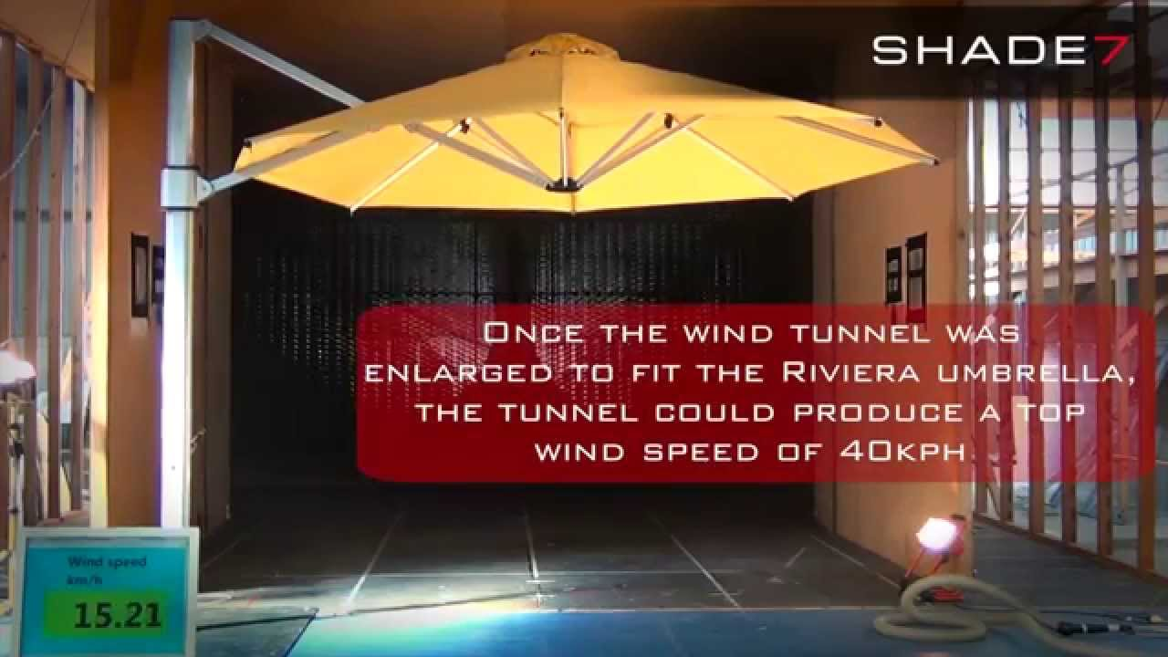Cantilever Umbrella Wind Tunnel Test The Shade7 Riviera Cantilever