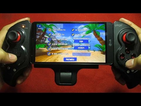 LG G3 Stylus Test Gaming Beach Buggy Racing with Ipega 9023