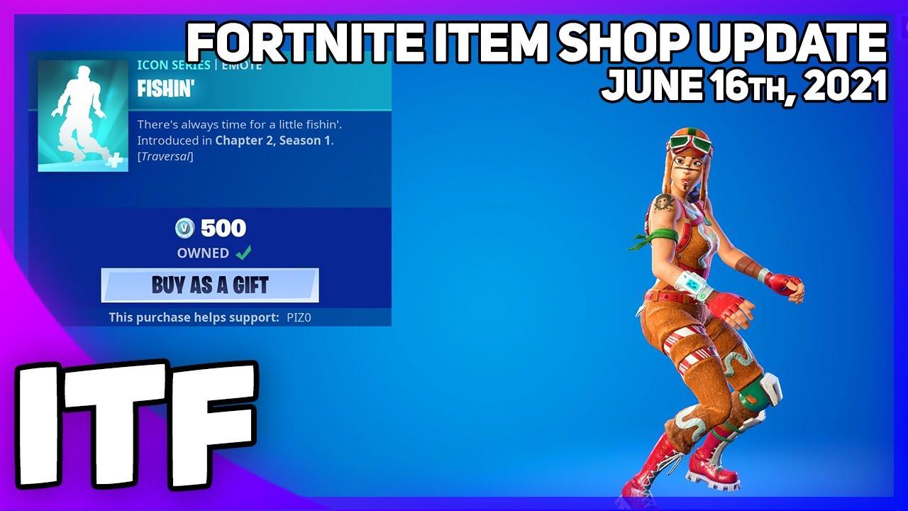 Fortnite Item Shop *RARE* FISHIN' IS BACK! [June 16th, 2021] (Fortnite Battle Royale)