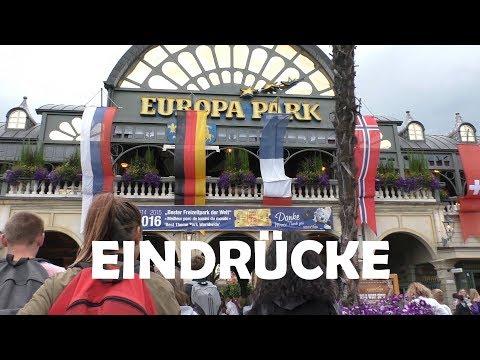 Vom Parkplatz bis in die Deutsche Allee - Der Haupteingang des EUROPA PARK am 12.07.2017