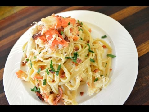 Cameren's Crab And Bacon Fettuccine Alfredo |Cooking With Carolyn