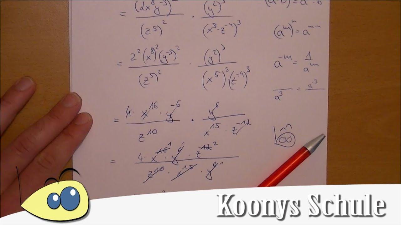 Aufgabe 6 - Keine negativen Exponenten, Potenzgesetze | AB 0995 ...