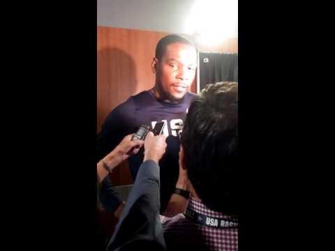Sights & Sounds from Snapchat Post-Game Team USA Basketball vs China @ LA, Klay/Durant/Draymond