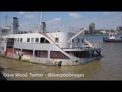 Liverpool Ferry Royal Iris, Rotting Away On The River Thames At Woolwich, London