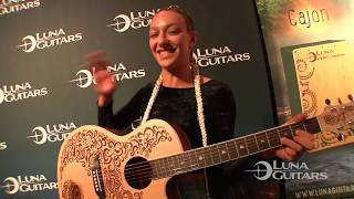NAMM 2018 Henna Oasis and Paradise Select Spruce by Luna Guitars