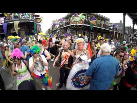 Mardi Gras Day in the French Quarter, New Orleans, Louisiana