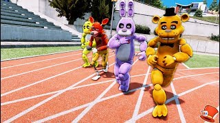 GUESS WHO'S THE FASTEST ORIGINAL ANIMATRONIC! (GTA 5 Mods For Kids FNAF RedHatter)