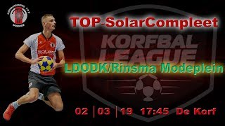 TOP/SolarCompleet 2 tegen LDODK/Rinsma Modeplein 2, zaterdag 2 maart 2019