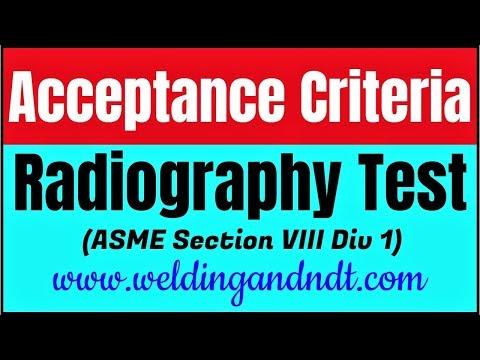 [Hind/Urdu] Acceptance criteria for Radiography Test (ASME section VIII Div I)