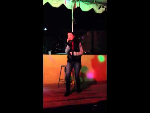 Alex Schegetz singing (karaoke) Gravity from Wicked