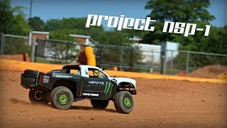 NSP-1 RC Trophy Truck Hits The Track :: 120fps GoPro [HD]
