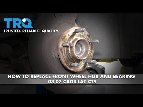 How to Replace Front Wheel Hub and Bearing 03-07 Cadillac CTS