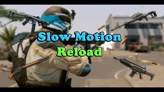 Warface - Slow Motion - Weapons Reload (240 FPS)