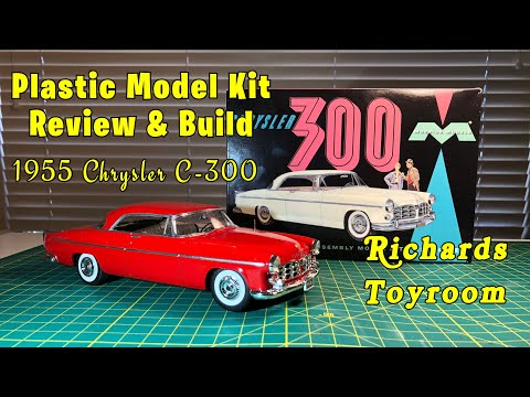 Plastic Model Kit Review and Build 1955 Chrysler C300