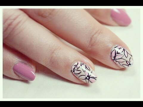 Fiori Nail Art.Nail Art Fiori Rosa Stilizzati Youtube