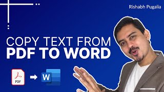 Copy Text from PDF to Word without Line Breaks | Word Tricks