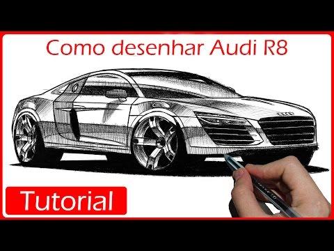 Como desenhar carros: Audi R8