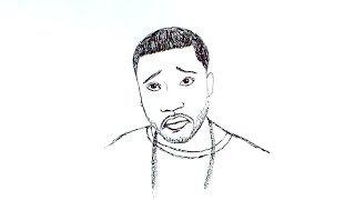 How to Draw Meek Mill with a Sad Face