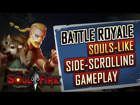 Steam Gameplay Trailer ☞ SOULFIRE Spell Collections (souls-like battle royale)