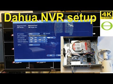 Dahua NVR unboxing and setup - step by step -2019