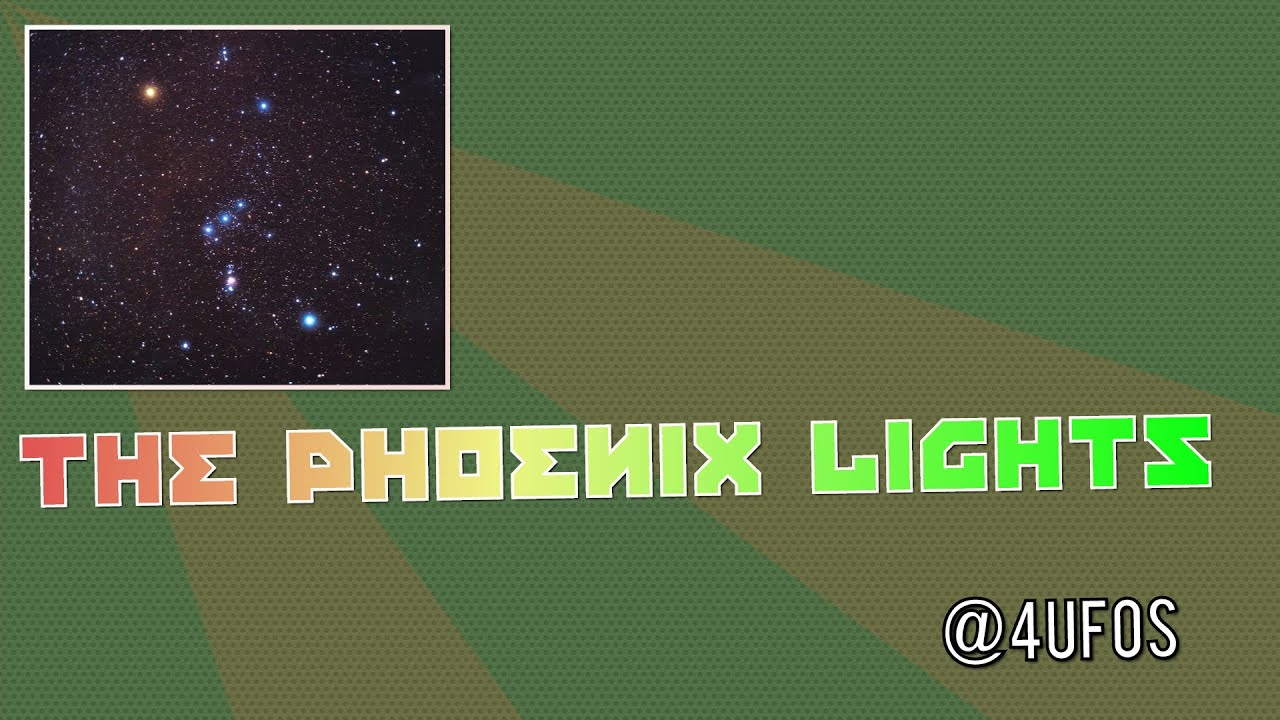 The Phoenix Lights - Visitors Came Earlier In Daylight  |Real Phoenix Lights