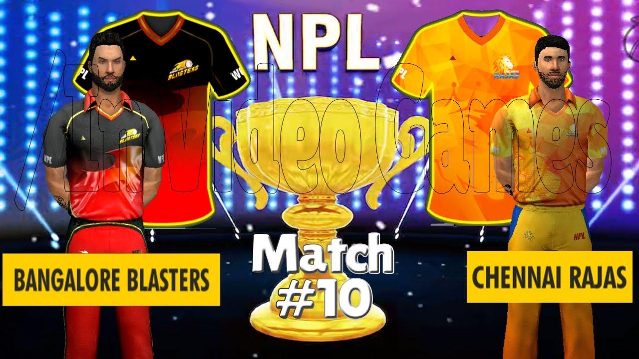 #10 RCB vs CSK - Bangalore vs Chennai - NPL / IPL 2020 WCC 3 World Cricket Championship Live Stream