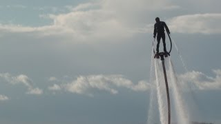 Water Jetpack Jetlev Guy Flying High at Lake Okoboji 08/18/2012