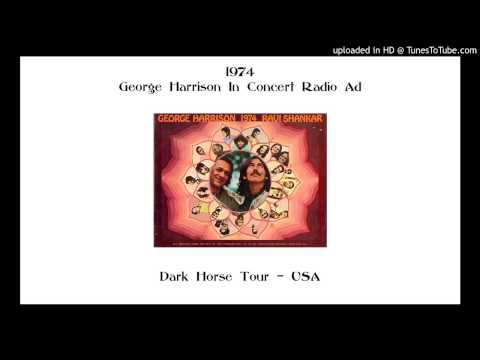 1974 - George Harrison In Concert Radio Ad - APPLE RECORDS