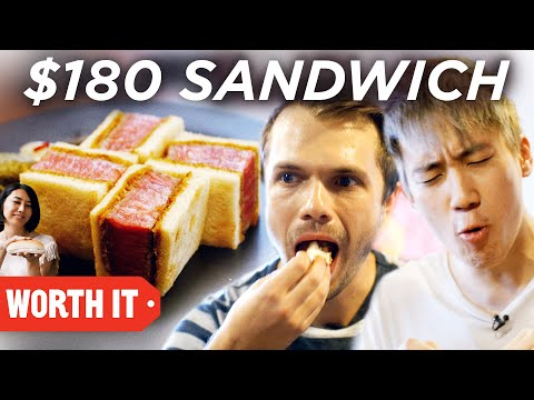 $6 Sandwich Vs. $180 Sandwich: Credits: https://www.buzzfeed.com/bfmp/videos/68323  Check out more awesome videos at BuzzFeedVideo! https://bit.ly/YTbuzzfeedvideo  GET MORE BUZZFEED: https://www.buzzfeed.com https://www.buzzfeed.com/videos https://www.youtube.com/buzzfeedvideo https://www.youtube.com/asis https://www.youtube.com/buzzfeedmultiplayer https://www.youtube.com/buzzfeedviolet https://www.youtube.com/perolike https://www.youtube.com/ladylike  BuzzFeedVideo BuzzFeed's flagship channel. Sometimes funny, sometimes serious, always shareable. New videos posted daily! To see behind-the-scenes & more, follow us on Instagram @buzzfeedvideo http://bit.ly/2JRRkKU  Love BuzzFeed? Get the merch! BUY NOW: https://goo.gl/gQKF8m