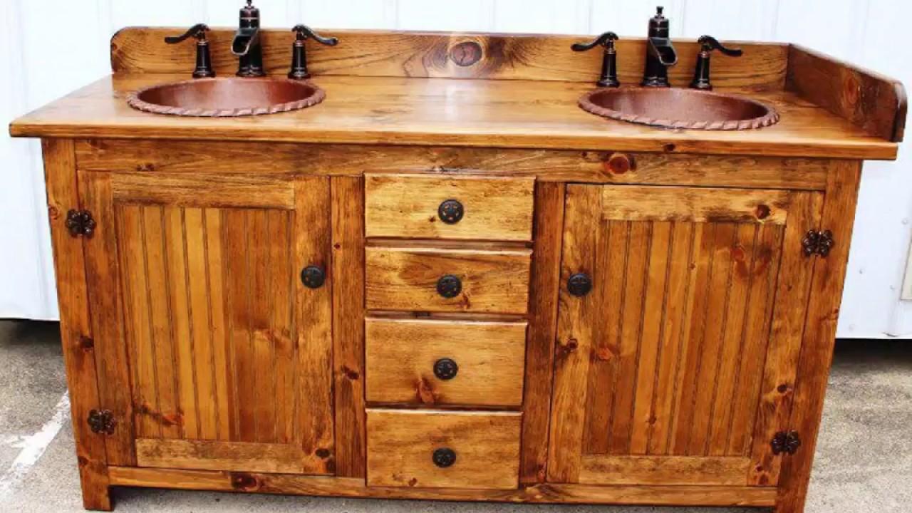 Rustic Bathroom Vanity Plans Youtube