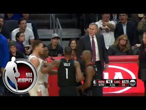 Blake Griffin and Chris Paul get chippy in CP3's return to Los Angeles | ESPN