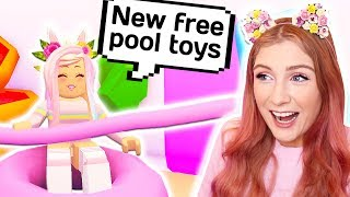 NEW SUMMER UPDATE AND FREE POOL TOYS // Roblox Adopt Me