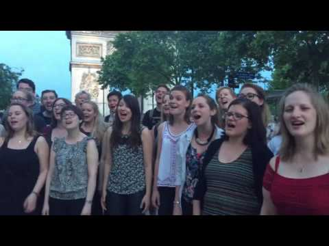 Hold Back the River - a cappella flashmob by Starling Arts - Arc de Triomphe Paris