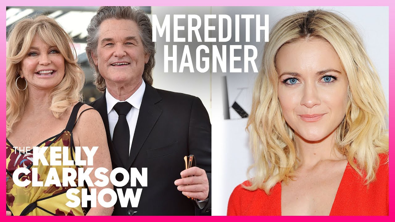 Meredith Hagner's Mom Met In-Laws Goldie Hawn & Kurt Russell Wearing A Bedazzled 'Hollywood' Shirt