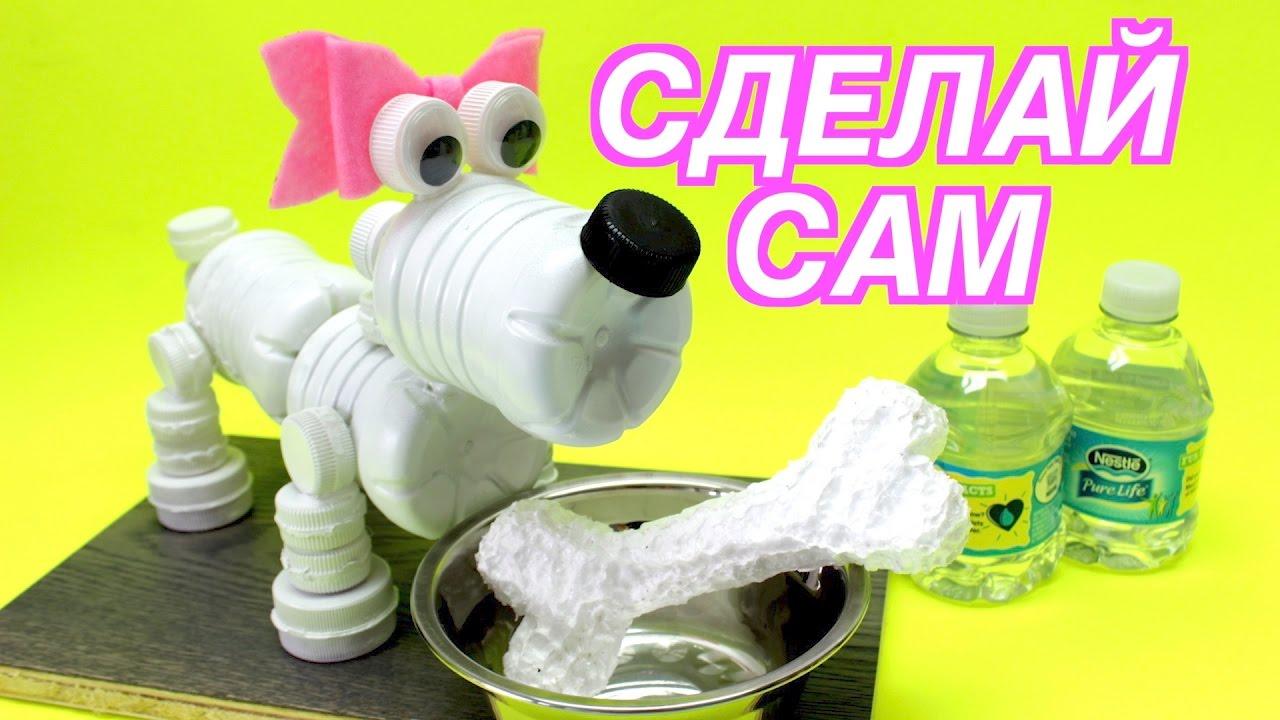 Собака из бутылок своими руками