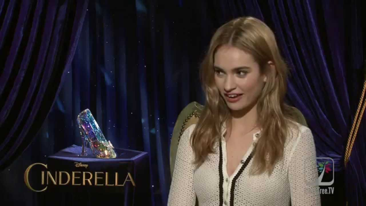 Download CINDERELLA Lily James talks about not fitting the glass slipper