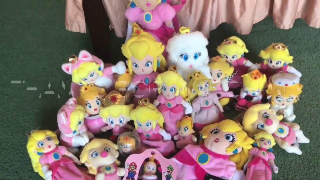 Princess Peach Plush Collection Super Mario Bros Youtube
