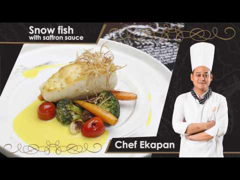 Snow Fish With Saffron Sauce - Brasserie 9
