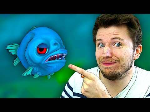 JE DEVIENS UN PIRANHA | Feed and Grow: Fish #1