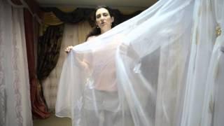 Белоснежный тюль с серебристым узором(Вуаль с вертикальной серебристой вышивкой. Купить данную продукцию на сайте - http://salon-gardin.com.ua/, 2015-10-27T10:22:12.000Z)